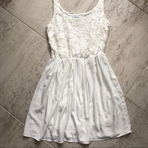White Lace and Satin Dress